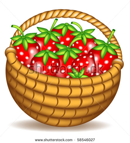Basket clipart berry Art Search outline strawberry strawberry
