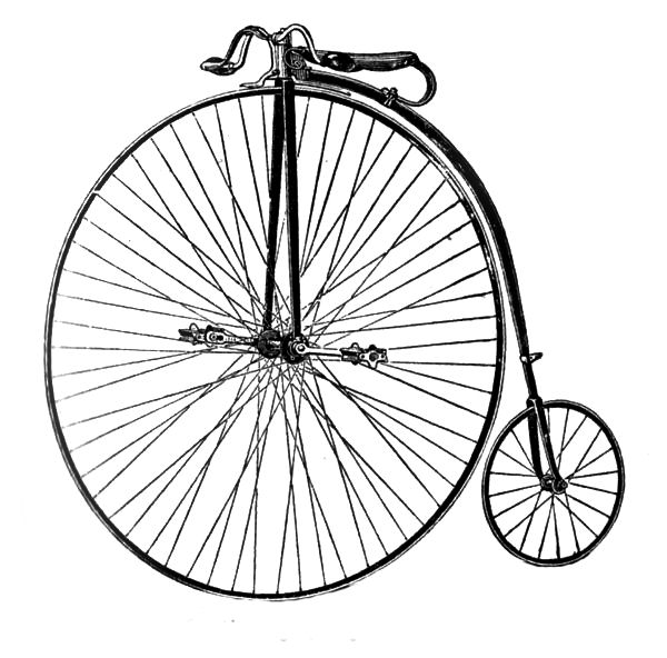 Bicycle clipart old fashioned Old Free Fashioned Clip Bicycle