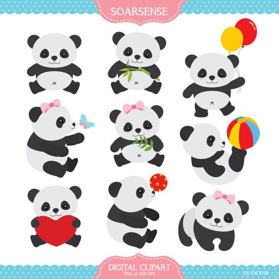 Card clipart baby panda Best images Baby $5 Free