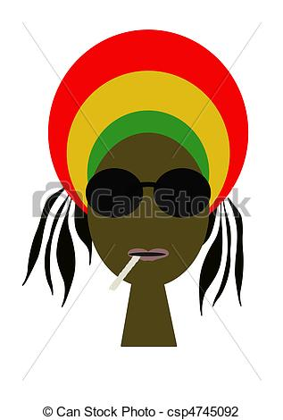 Rastas clipart animated Rasta Clipart of Portrait rasta