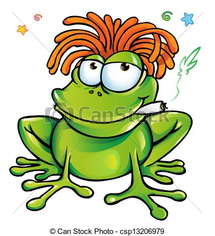 Rasta clipart animated  cartoon frog Illustration cartoon