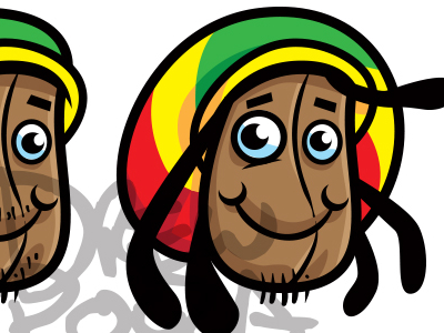 Rastas clipart animated Drew Bean Rasta bean by