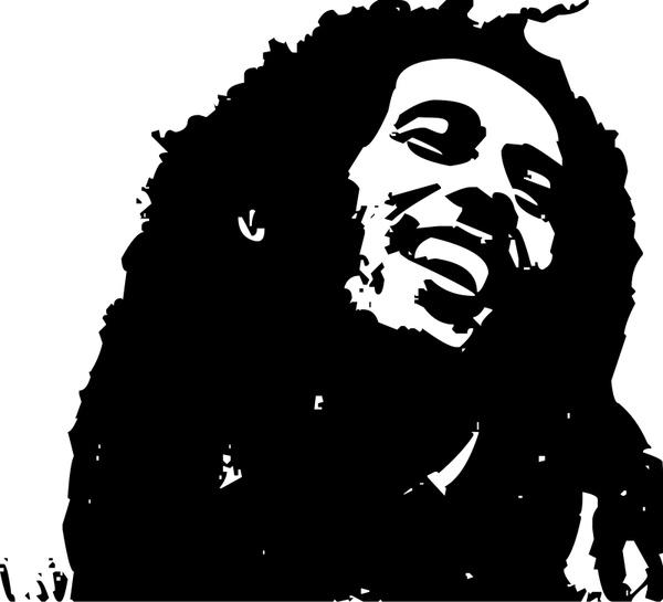 Reggae clipart bob marley Marley (4 Rasta vector for