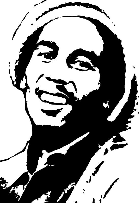 Reggae clipart black and white The Silhouette Bob Bob Everlasting