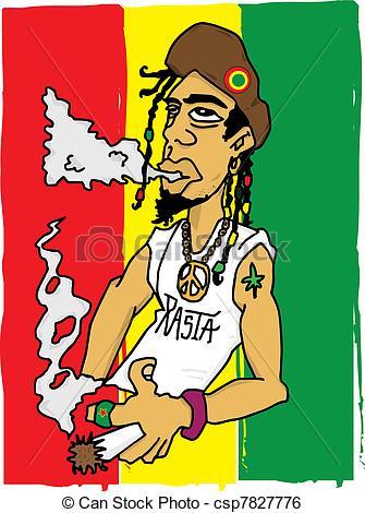 Rastas clipart rastafarian Of Art Illustration rasta Clip