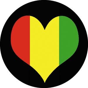 Rasta clipart heart Heart Rasta Heart Button Button