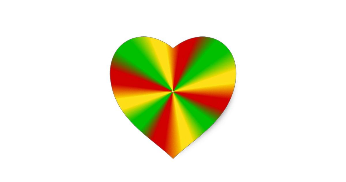 Rasta clipart heart Green  Heart Sticker Rasta