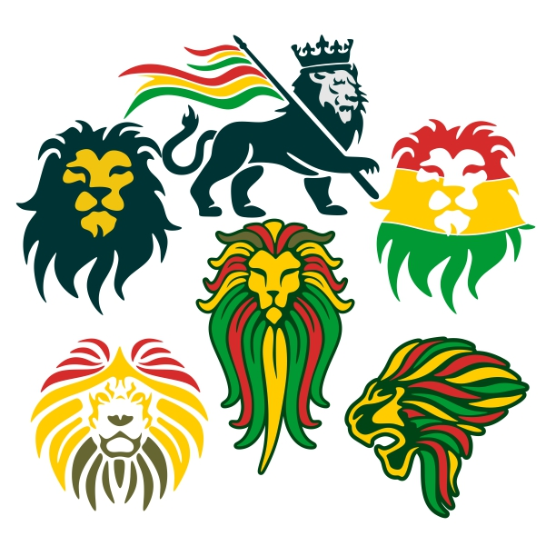 Rasta clipart lion Lion Cuttable Design Rasta