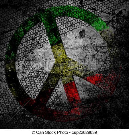 Rasta clipart peace Peace textured on rasta
