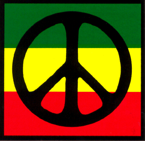 Reggae clipart logo peace Decal Sign Peace Sticker over