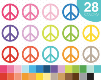 Rasta clipart peace sign Clip Peace Etsy clipart symbol