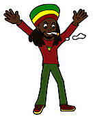 Rasta clipart rasta man Joint Art Royalty Clip Rastafarian