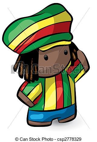 Rastas clipart rastafarian #1