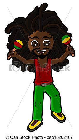 Rastas clipart animated Isolated white the playing percussionist