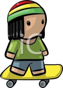 Rasta clipart animated With Hat Clipart Boy Riding