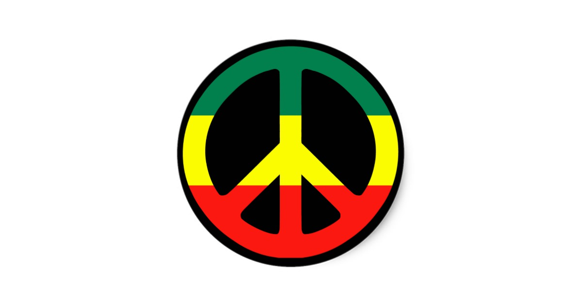 Rastas clipart peace sign #15