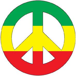 Rastas clipart peace sign SIGN CAR American Rainbow Choose