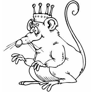 Drawn rat colouring Template view crown template pages