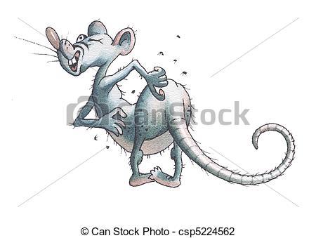 Rat clipart flea #6