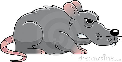 Rat clipart mean #4