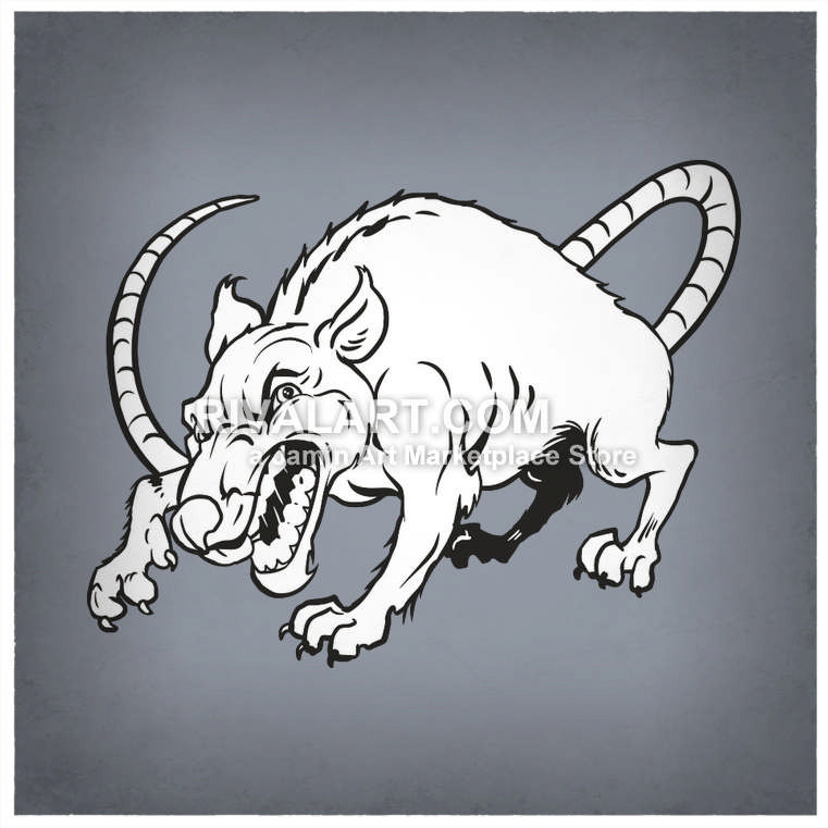 Rat clipart mean #7