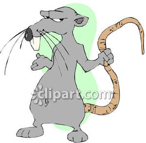Rat clipart mean #6