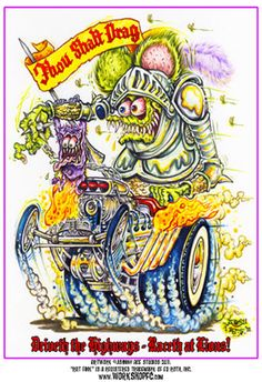 Rat Fink clipart burnout Daddy Monsters DRAGSTER BigToe Lions