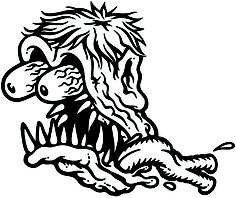 Rat Fink clipart burnout #7