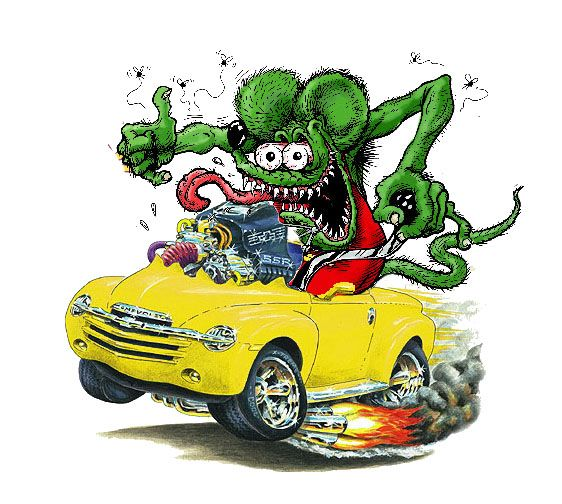 Rat Fink clipart car #15