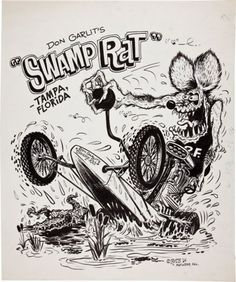 Rat Fink clipart dragster  DAP Monster Rat Monsters