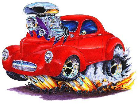 Classic Car clipart cartoon Hot culture Willys Tshirt 1941