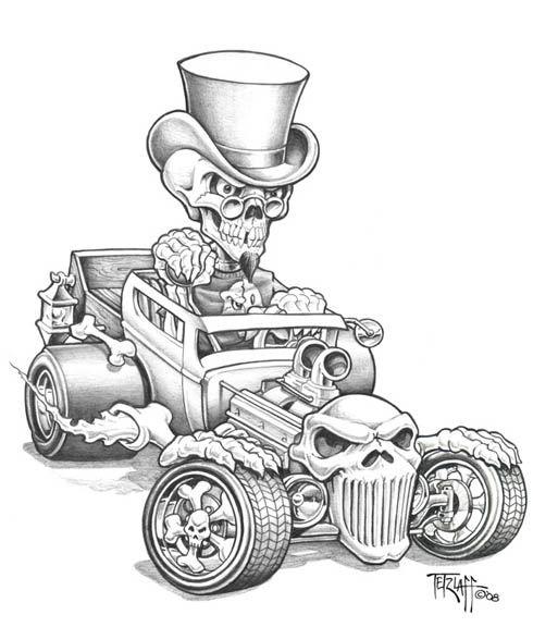 Rat Fink clipart las vegas Cartoon about FinkRat d4qtdqs (490×576)