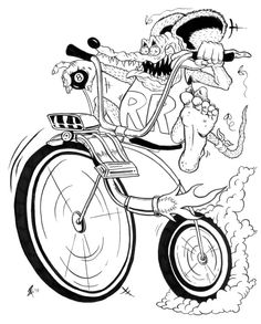 Rat Fink clipart motorcycle Hanger Revell Fink character Daddy