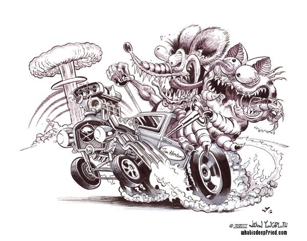 Rat Fink clipart motorcycle Google  style of art