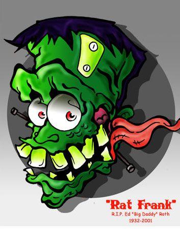 Rat Fink clipart psychobilly