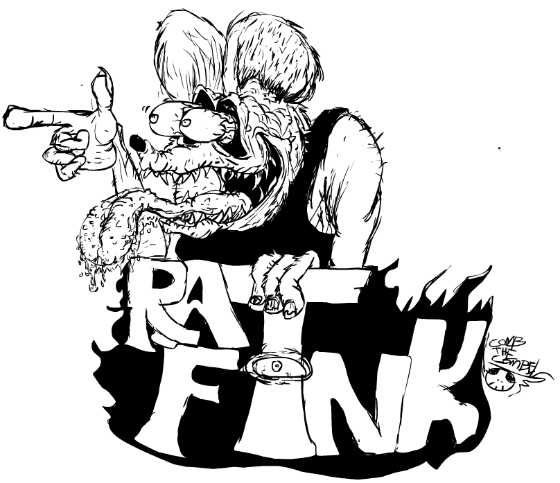 Rat Fink clipart vector Fink doodle DeviantArt on Rat
