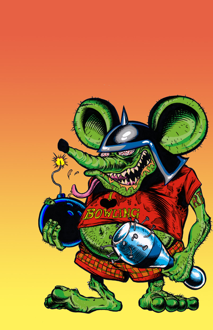 Rat Fink clipart vector Fink  joker5063 rat by