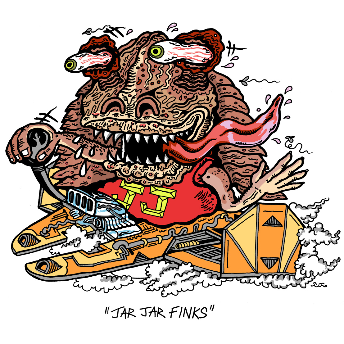 Rat Fink clipart vector Art: Fink Delectable Medium Clip