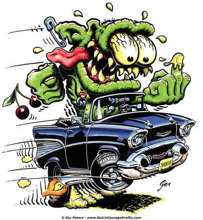 Rat Fink clipart vector Stickers I Pinterest on 57chevy