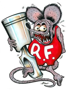 Rat Fink clipart vector 118th fink