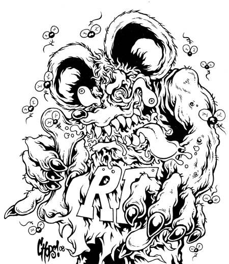 Rat Fink clipart zombie Rat rat characters Pinterest fink