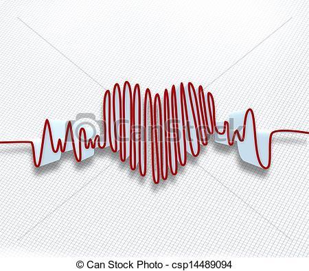 Illustration  of waveform Heart