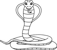 Rattlesnake clipart black and white #12