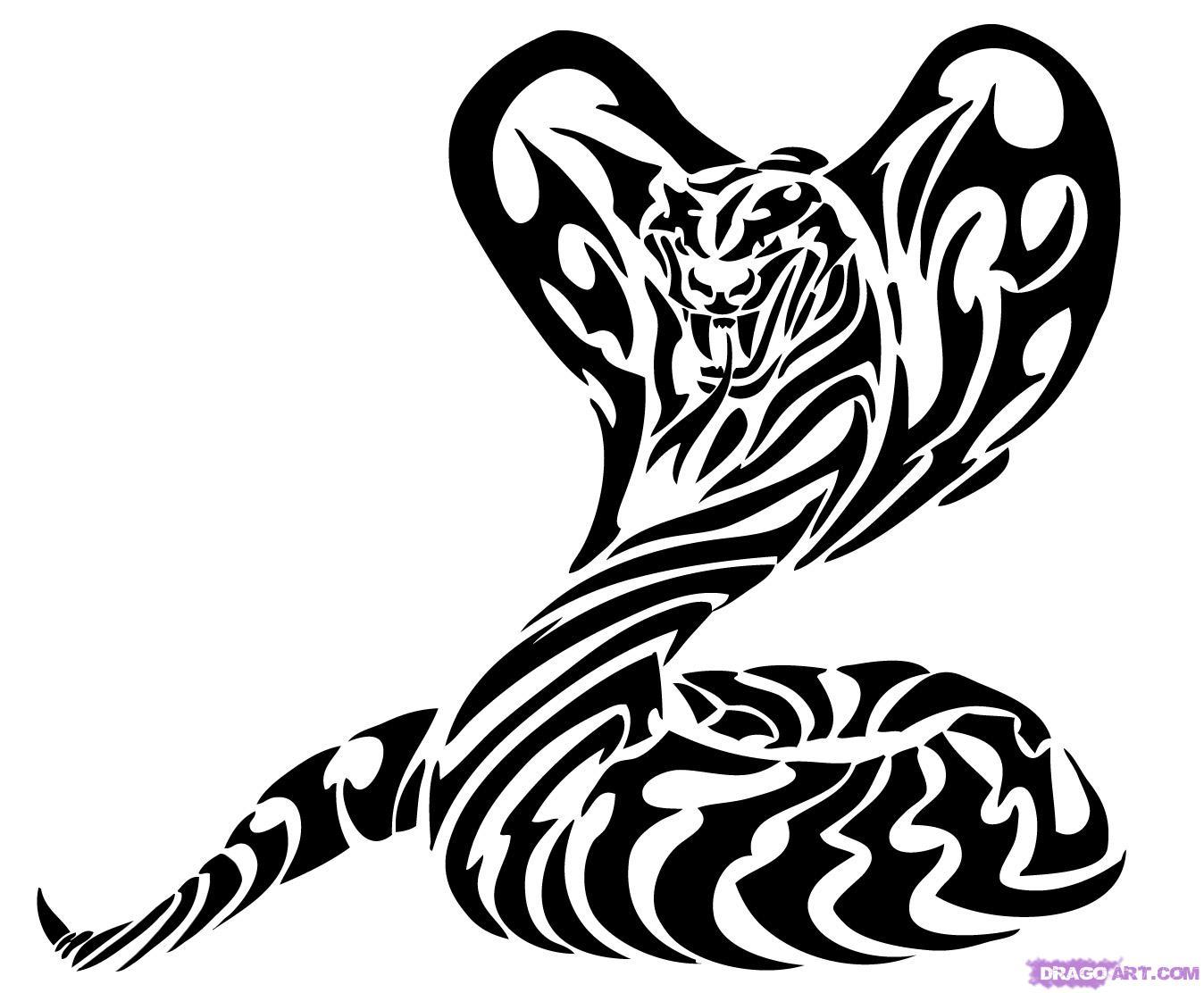 Rattlesnake clipart tribal #13
