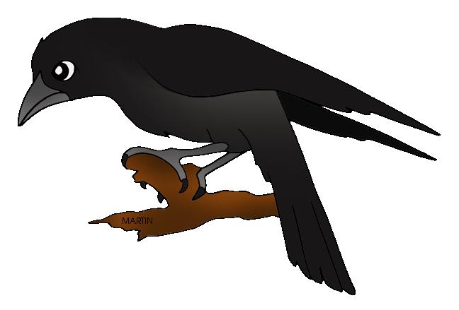 Raven clipart cartoon #9