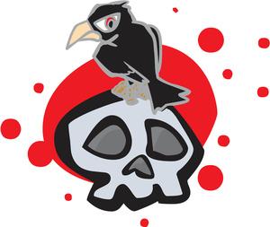 Raven clipart cartoon #10