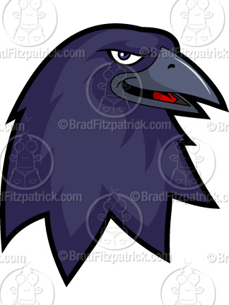 Raven clipart cartoon #5