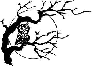 Raven clipart halloween full moon #4