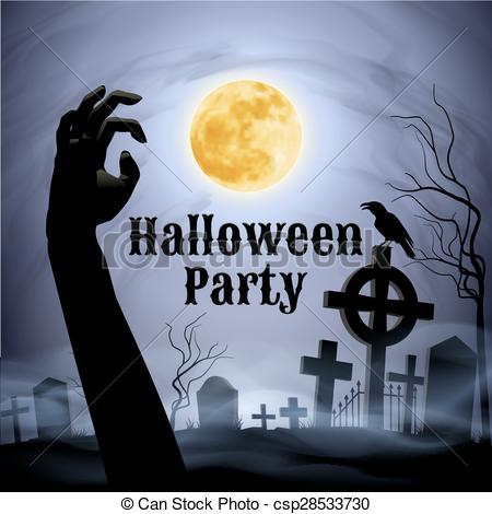 Raven clipart halloween full moon #8