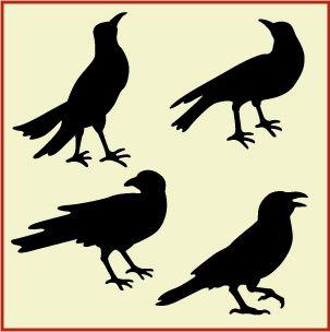 Raven clipart primitive #10